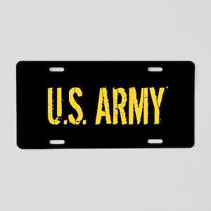U.S. Army: Black & Gold Aluminum License Plate