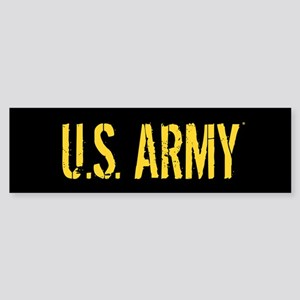 U.S. Army: Black & Gold Sticker (Bumper)