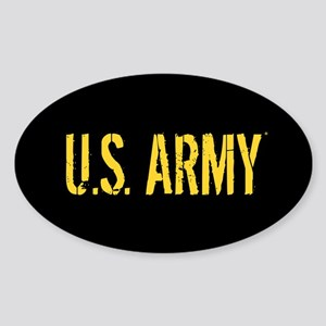 U.S. Army: Black & Gold Sticker (Oval)