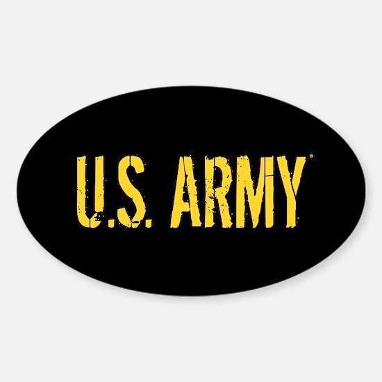 U.S. Army: Black & Gold Sticker (Oval)