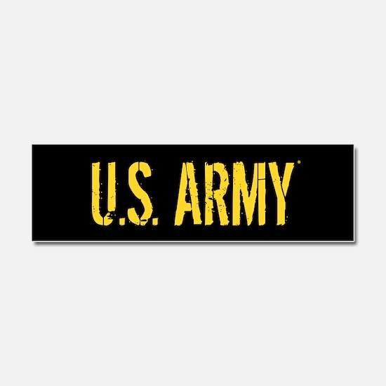 U.S. Army: Black & Gold Car Magnet 10 x 3
