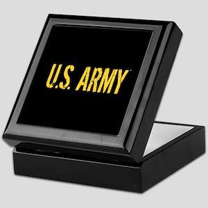 U.S. Army: Black & Gold Keepsake Box