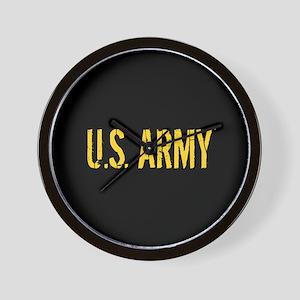 U.S. Army: Black & Gold Wall Clock