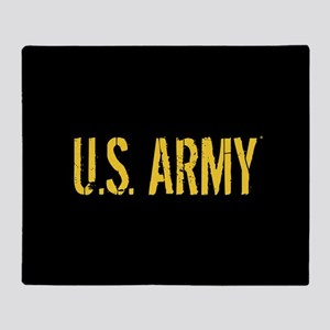 U.S. Army: Black & Gold Throw Blanket