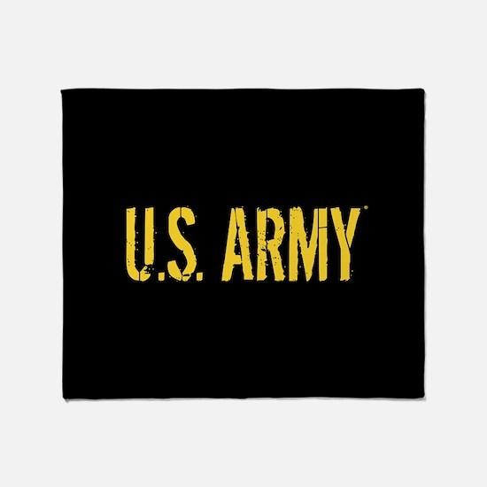 U.S. Army: Black & Gold Throw Blanket