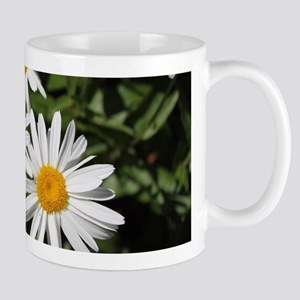 pretty pure white daisy flowers. Mugs