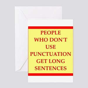 punctuation Greeting Cards