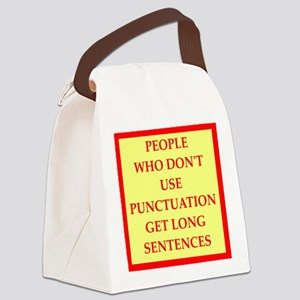 punctuation Canvas Lunch Bag