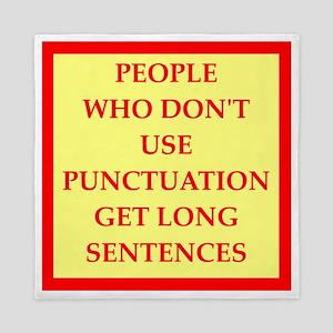 punctuation Queen Duvet