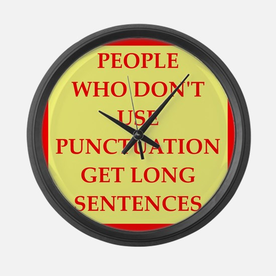 punctuation Large Wall Clock