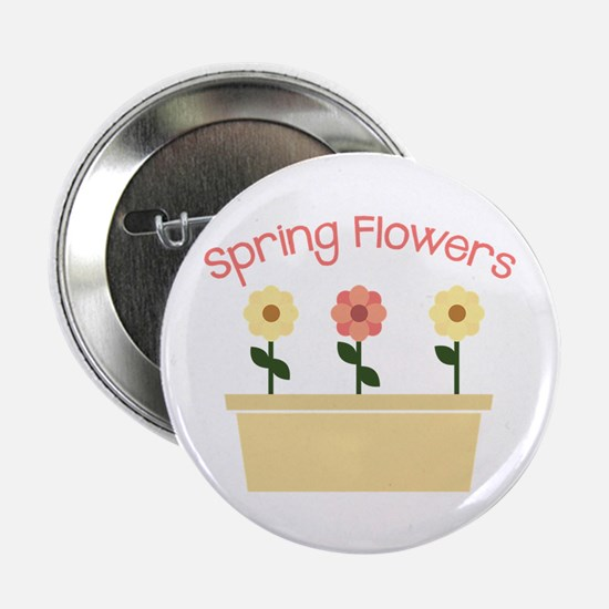 "Spring Flowers 2.25"" Button (10 pack)"