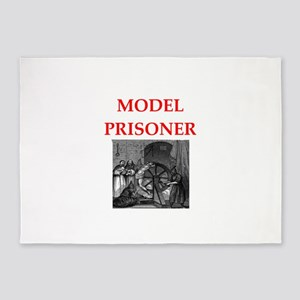 model prisoner 5'x7'Area Rug