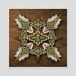 Native American Style Mandala 30 Queen Duvet