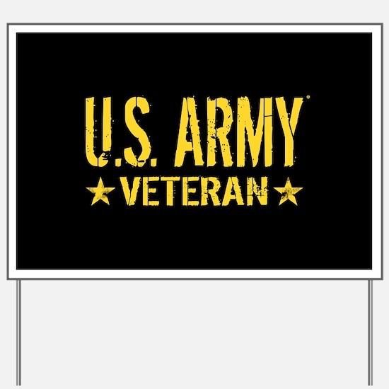 U.S. Army: Veteran (Gold Stars) Yard Sign