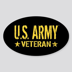 U.S. Army: Veteran (Gold Stars) Sticker (Oval)