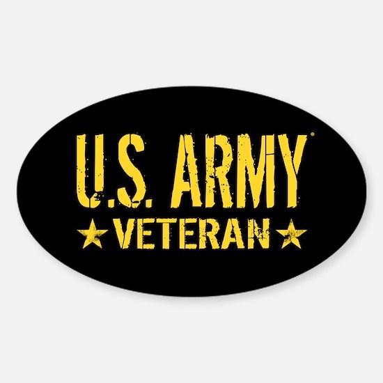 U.S. Army: Veteran (Gold Stars) Sticker (Oval)