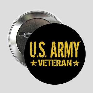 "U.S. Army: Veteran (Gold St 2.25"" Button (10 pack)"