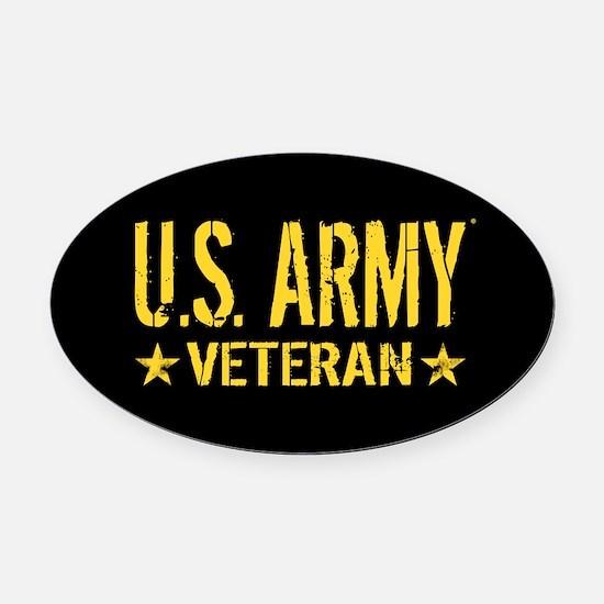 U.S. Army: Veteran (Gold Stars) Oval Car Magnet