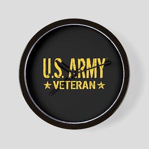U.S. Army: Veteran (Gold Stars) Wall Clock