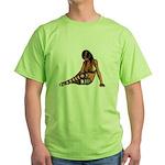 Sexy.Emo.Girl2 Green T-Shirt