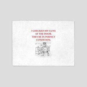 gun control 5'x7'Area Rug