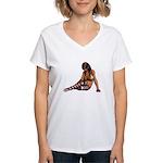 Sexy.Emo.Girl2 Women's V-Neck T-Shirt