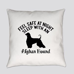 Sleep With Afghan Hound Dog Design Everyday Pillow