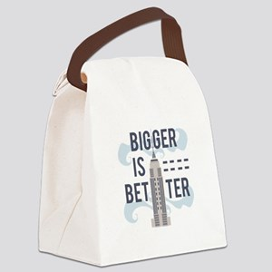 Bigger Is Better Canvas Lunch Bag