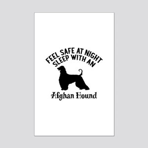 Sleep With Afghan Hound Dog Desi Mini Poster Print