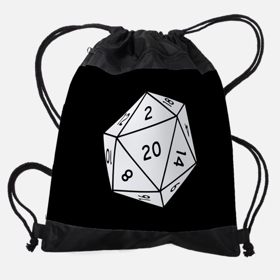 D20 Dice Drawstring Bag