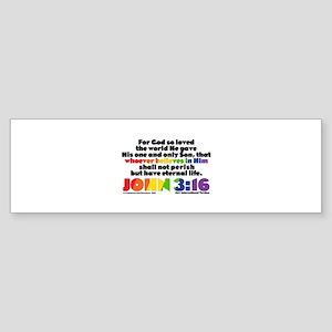 NEW! John 3:16 NIV Sticker (Bumper)