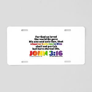NEW! John 3:16 NIV Aluminum License Plate