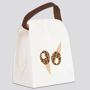 Ice Cream Cones Canvas Lunch Bag