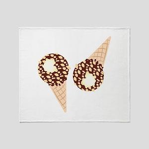 Ice Cream Cones Throw Blanket