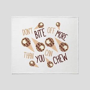 Bite Off Throw Blanket