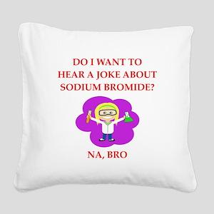 chemistry Square Canvas Pillow