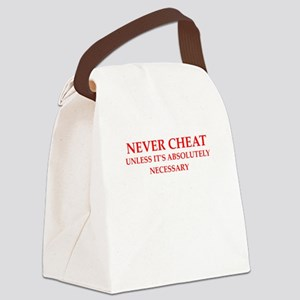 cheating Canvas Lunch Bag