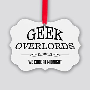 Geek Overlords Picture Ornament