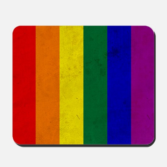 Vintage Rainbow Gay Pride Flag Mousepad