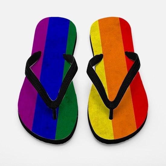 Vintage Rainbow Gay Pride Flag Flip Flops