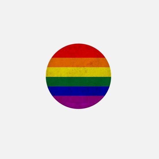 Vintage Rainbow Gay Pride Flag Mini Button