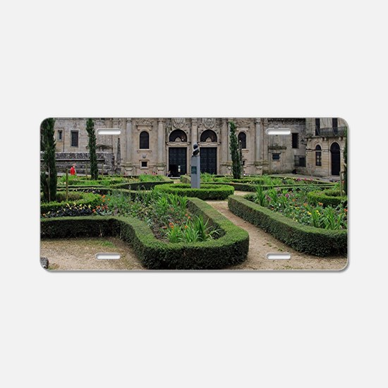 Gardens and cathedral, Sant Aluminum License Plate