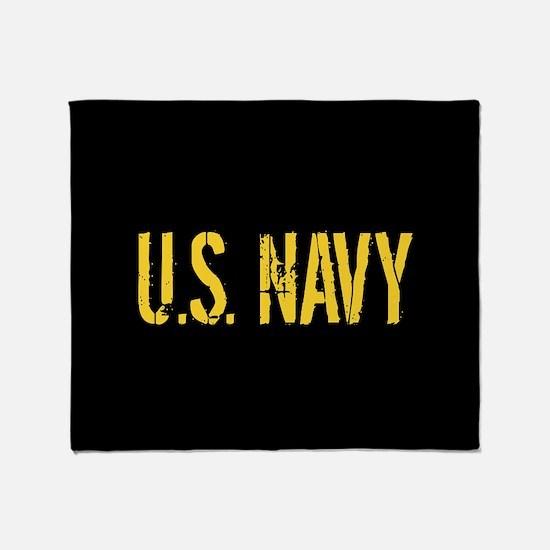 U.S. Navy: Black & Gold Throw Blanket