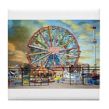 Wonder Wheel Park Tile Coaster