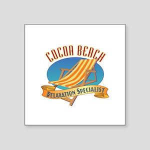 """Cocoa Beach Relax - Square Sticker 3"""" x 3"""""""