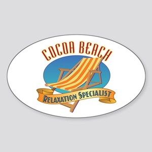Cocoa Beach Relax - Sticker (Oval)