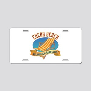 Cocoa Beach Relax - Aluminum License Plate