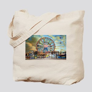 Wonder Wheel Park Tote Bag