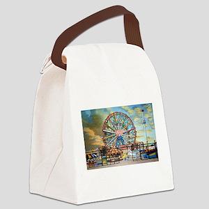 Wonder Wheel Park Canvas Lunch Bag