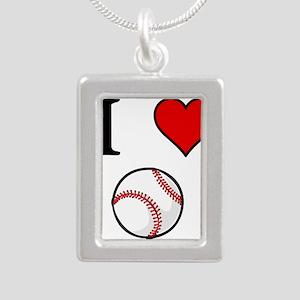 I Love Baseball Necklaces